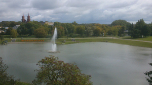 The lake in the centre of Panevezys